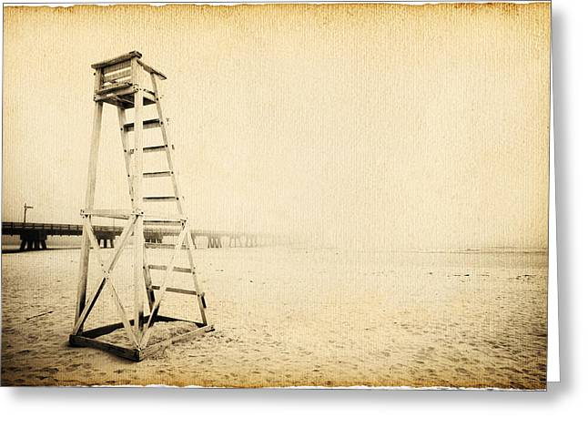 Guard Tower Greeting Cards - Life Guard Tower Greeting Card by Skip Nall