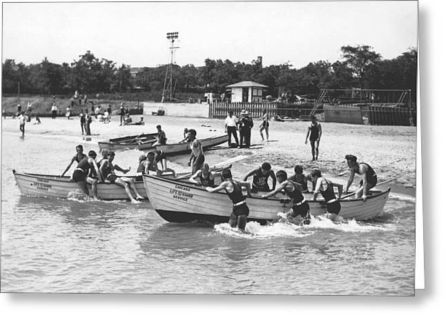 Life Guards Summer Training Greeting Card by Underwood Archives
