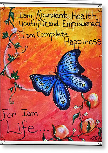 Empower Paintings Greeting Cards - Life - Healing Art Greeting Card by Absinthe Art By Michelle LeAnn Scott