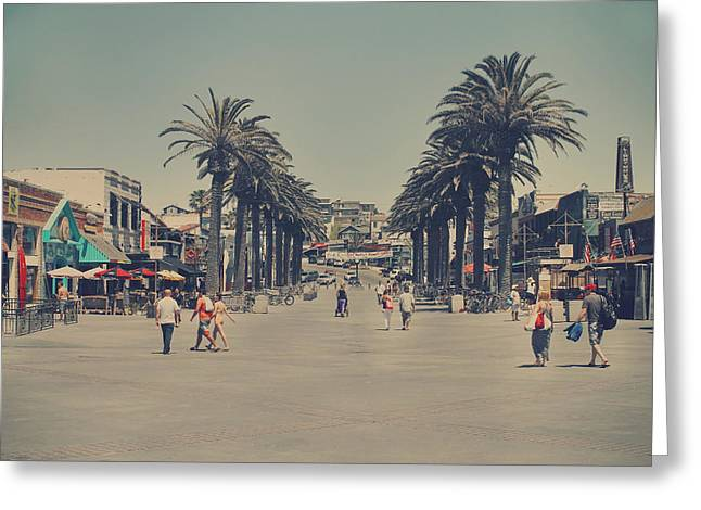 Southern California Beach Greeting Cards - Life in a Beach Town Greeting Card by Laurie Search