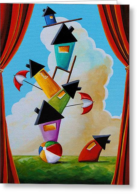 Community Greeting Cards - Life In Balance Greeting Card by Cindy Thornton