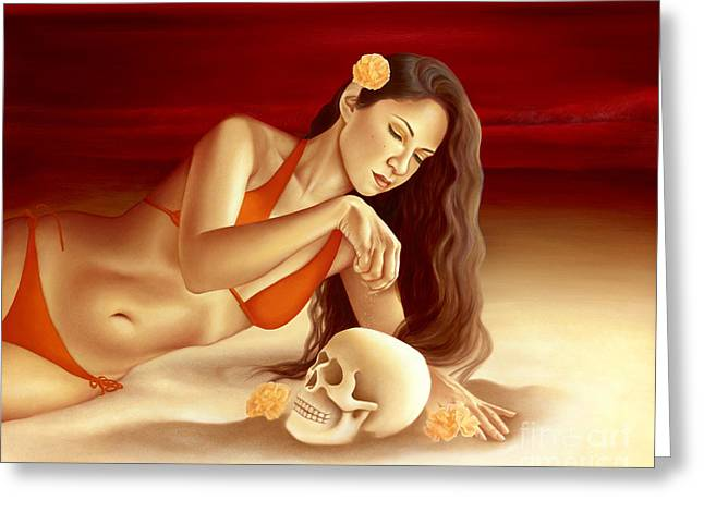 Sand Ceramics Greeting Cards - Life in Death Greeting Card by Lorena Rivera