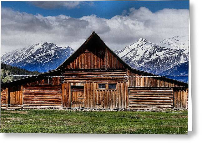 Old Wood Cabin Greeting Cards - Life In The Tetons Greeting Card by Dan Sproul