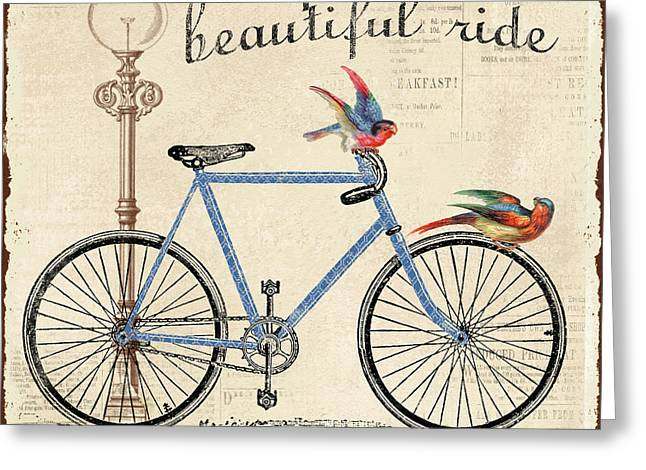 Life Is A Beautiful Ride Greeting Card by Jean Plout