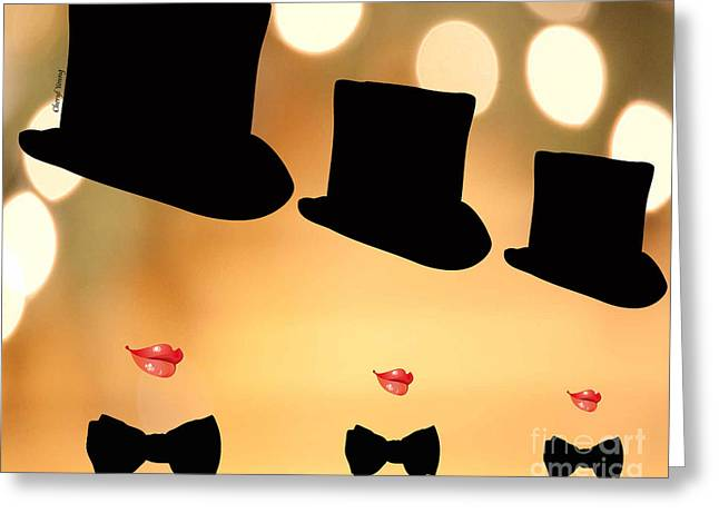 Life is a Cabaret Greeting Card by Cheryl Young