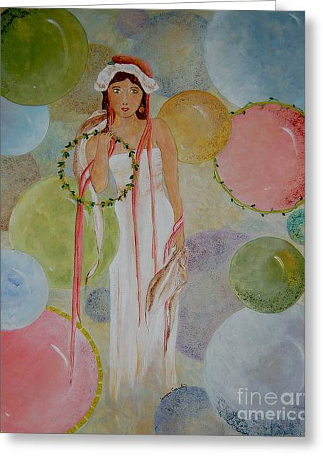 Floating Girl Greeting Cards - Life is a Dream Greeting Card by Tamyra Crossley