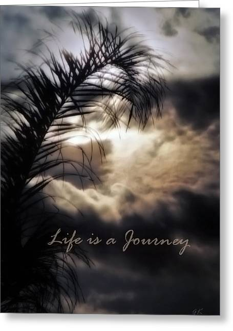 Religious Mixed Media Greeting Cards - Life is a Journey Greeting Card by Gerlinde Keating - Keating Associates Inc