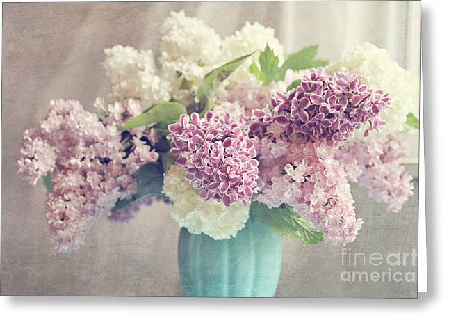 Lilac Greeting Cards - Life is a Promise Greeting Card by Sylvia Cook
