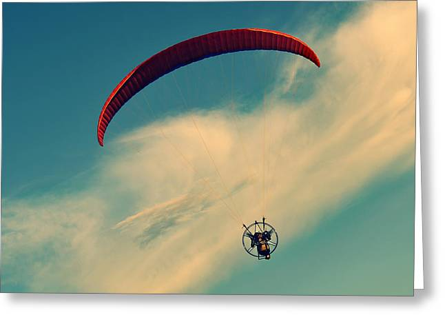 Parasail Greeting Cards - Life is Good Greeting Card by Laura  Fasulo