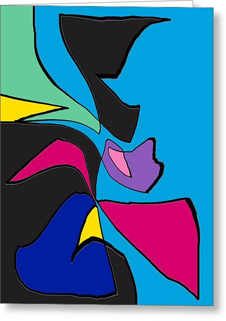 Blue Abstracts Greeting Cards - Life Is Good Greeting Card by Rjf at beautifullart  RJ   Friedenthal