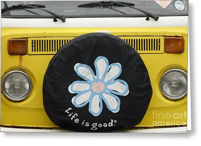 Iconic Lamp Design Greeting Cards - Life Is Good With VW Greeting Card by Wendy Wilton