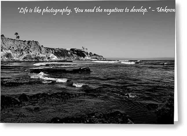 California Beach Art Greeting Cards - Life Is Like Photography Greeting Card by Judy Vincent