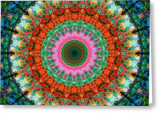 Life Joy - Mandala Art By Sharon Cummings Greeting Card by Sharon Cummings