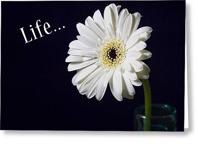 Life Greeting Card by Kim Andelkovic