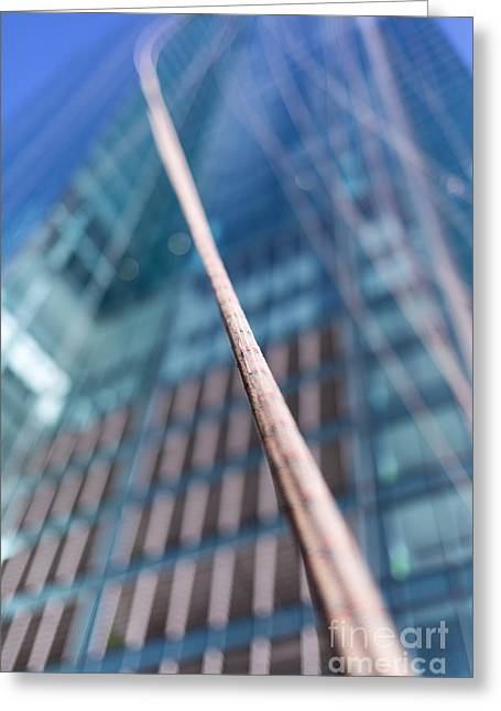 Window Of Life Greeting Cards - Life line Urban abstract Greeting Card by David Van der Want