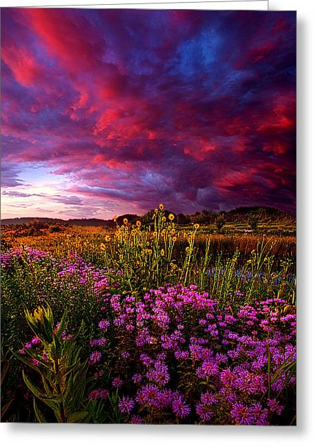 Twilight Greeting Cards - Life Love and Hope Greeting Card by Phil Koch