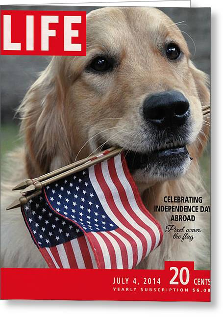 Recently Sold -  - 4th July Digital Art Greeting Cards - Life Magazine Independence Day 4 July 2014 Greeting Card by Nop Briex