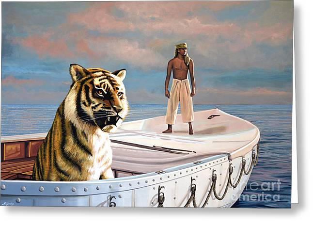 Golden Globe Greeting Cards - Life Of Pi Greeting Card by Paul Meijering