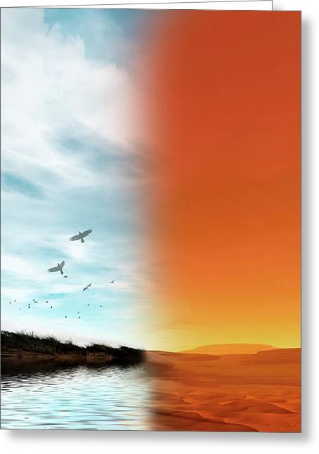 Life On Mars Greeting Card by Victor Habbick Visions