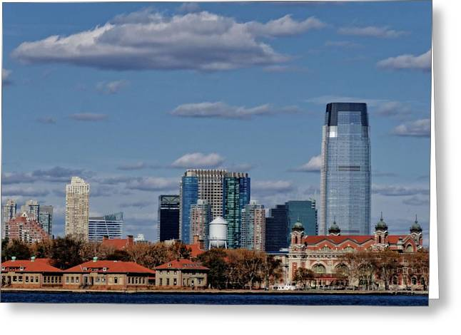 Window Of Life Greeting Cards - Life On New York Harbor Greeting Card by Dan Sproul