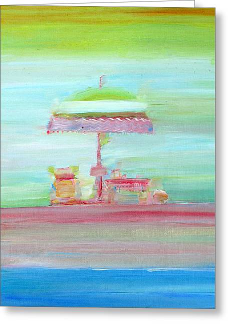 Sunbed Greeting Cards - LIFE on the BEACH Greeting Card by Fabrizio Cassetta