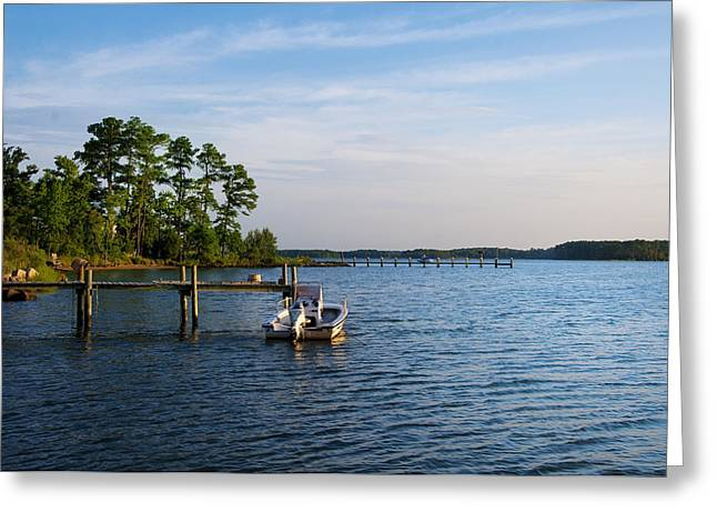 Docked Boats Digital Greeting Cards - Life on the Chesapeake  Greeting Card by Bill Cannon