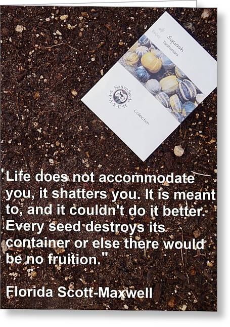 Local Food Greeting Cards - Life Shatters You Greeting Card by Jon Simmons