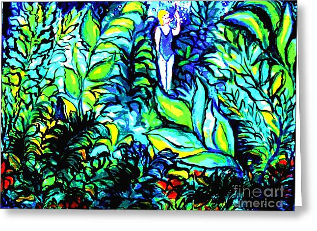 Water Filter Paintings Greeting Cards - Life Without Filters Greeting Card by Hazel Holland