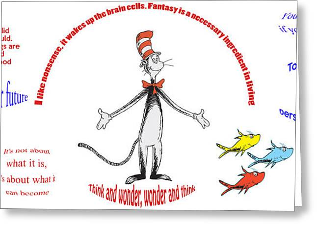 Love The Animal Greeting Cards - Life Words - Dr Seuss Greeting Card by Nomad Art And  Design