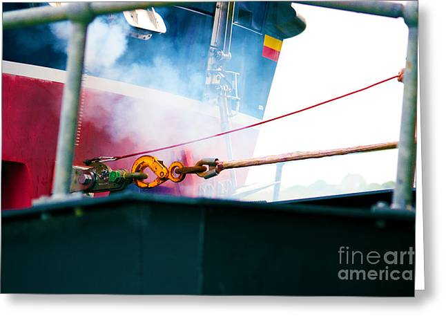 Terri Waters Greeting Cards - Lifeboat Chocks Away  Greeting Card by Terri  Waters