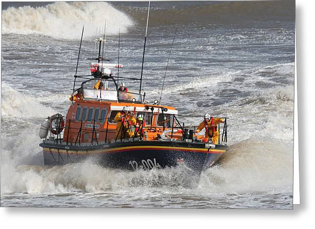 Paul Lilley Greeting Cards - Lifeboat -Mersey Class ALB Greeting Card by Paul Lilley