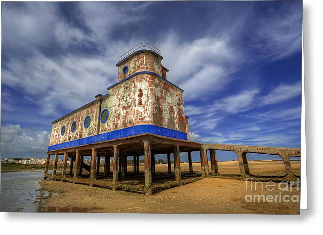 Blue Ria Greeting Cards - Lifeboat Station Greeting Card by English Landscapes