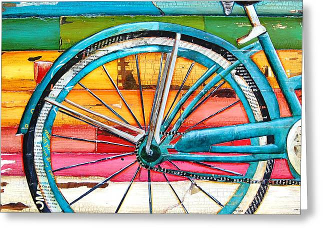 Mixed Media Collages Greeting Cards - Lifecycles Greeting Card by Danny Phillips