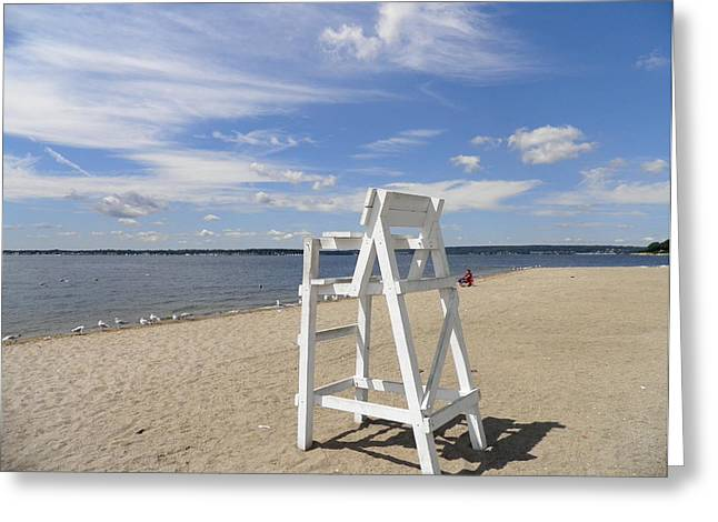 Kate Gallagher Greeting Cards - Lifeguard Chair Greeting Card by Kate Gallagher