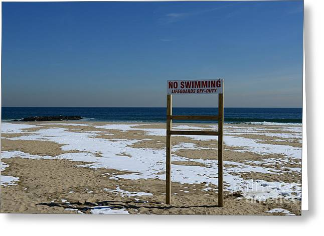 Alone In Asbury Park Greeting Cards - Lifeguard Off Duty Greeting Card by Paul Ward
