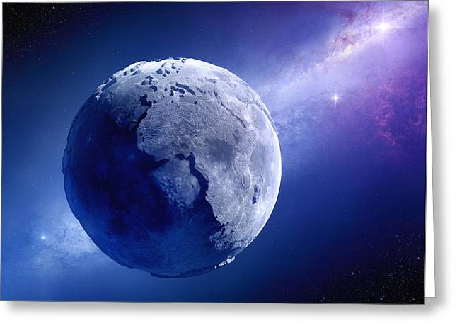 Nebula Greeting Cards - Lifeless Earth Greeting Card by Johan Swanepoel