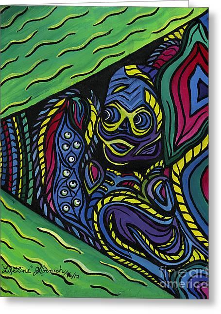Lifeline Greeting Cards - Lifelines Greeting Card by Janis  Cornish