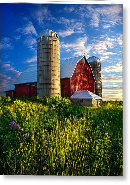 Silo Greeting Cards - Lifelong Memories Greeting Card by Phil Koch