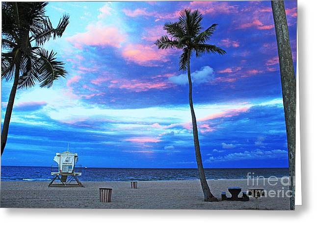 Life's A Beach Greeting Card by Alison Tomich