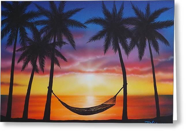 Darren Greeting Cards - Lifes a Beach Greeting Card by Darren Robinson