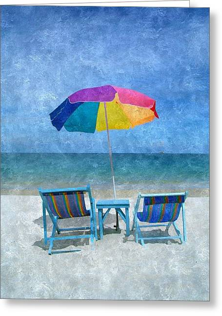 Recliner Greeting Cards - Lifes a Beach Greeting Card by Karyn Robinson