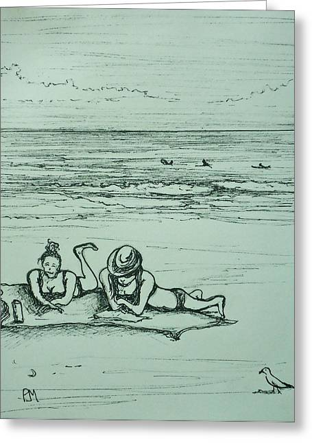 Life's A Beach Greeting Card by Pete Maier