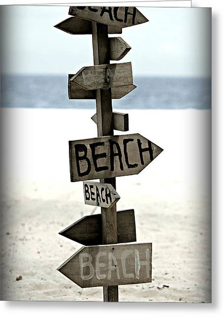 Beach Images Greeting Cards - Lifes A Beach Greeting Card by Stephen Stookey