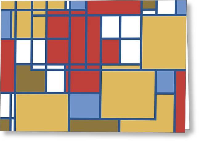 Geometric Digital Art Photographs Greeting Cards - Lifes a Maze Greeting Card by Bonnie Bruno