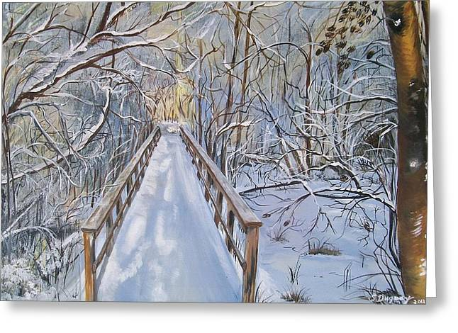 Snow Tree Prints Greeting Cards - Lifes  Path Greeting Card by Sharon Duguay