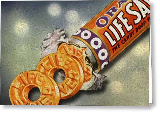 Decorative Greeting Cards - Lifesavers Greeting Card by Gary Grayson