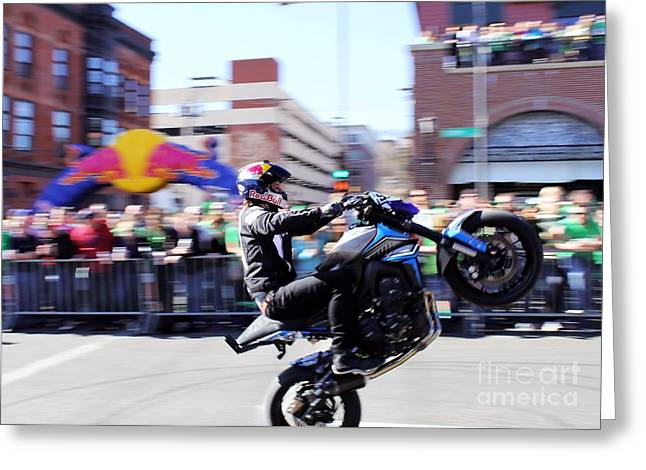 Action Sports Prints Greeting Cards - Lifting the Ride Out Greeting Card by Jimmy Ostgard
