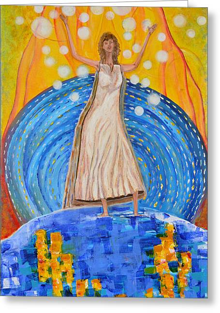 Art-by-cassie Sears Greeting Cards - Lifting The Veil Greeting Card by Cassie Sears