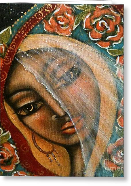 Contemporary Symbolism Greeting Cards - Lifting the Veil Greeting Card by Maya Telford