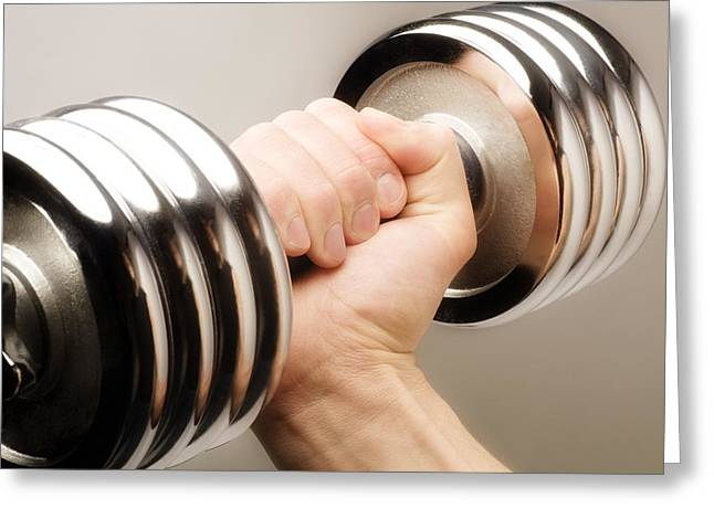 Arms Out Greeting Cards - Lifting Weights Greeting Card by Chris and Kate Knorr